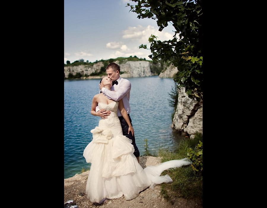Karolina i Mariusz plener zdjęcia w wodzie